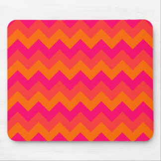 Orange and Pink Zigzag Mouse Mat