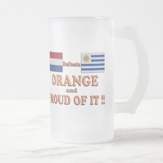 Orange and Proud Of It !! Frosted Glass Beer Mug