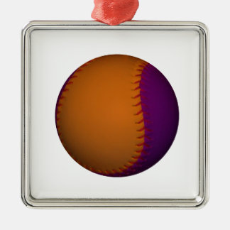 Orange and Purple Baseball Christmas Ornament