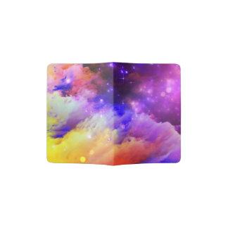 Orange and purple cosmos passport holder
