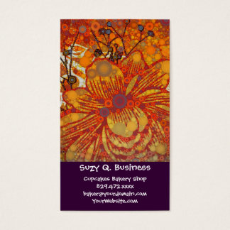 Orange and Purple Floral Modern Pop Art