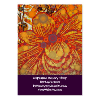 Orange and Purple Floral Modern Pop Art Pack Of Chubby Business Cards