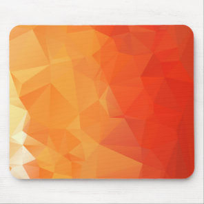Orange and Red Facet Pattern Mouse Mat