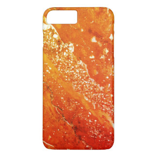 Orange and Red Little Marble Texture Photo iPhone 8 Plus/7 Plus Case