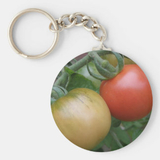 Orange and Red Tomatoes Keychain