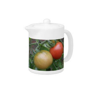 Orange and Red Tomatoes Teapot