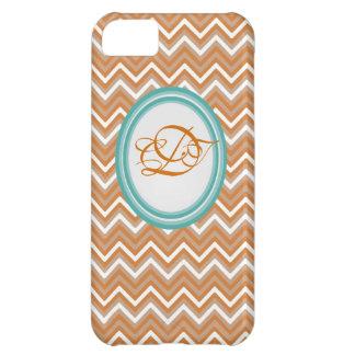 Orange and Teal Chevron Iphone Case Mate case iPhone 5C Case
