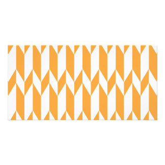 Orange and White Abstract Graphic Pattern Picture Card