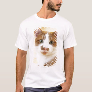 orange and white cat looking at camera T-Shirt