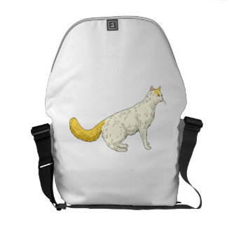 Orange And White Cat Messenger Bags