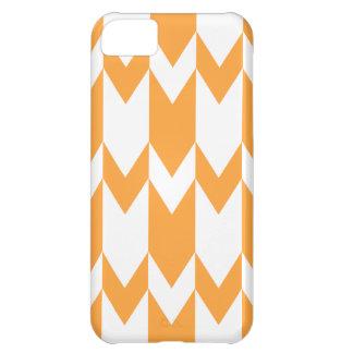 Orange and White Chevron Pattern. iPhone 5C Case