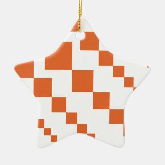 Orange and White Descending Diamond Christmas Ornament