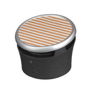 Orange and White Horizontal Stripe Bluetooth Speaker