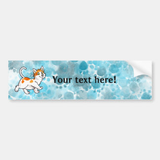 Orange and White Kitty Bumper Stickers
