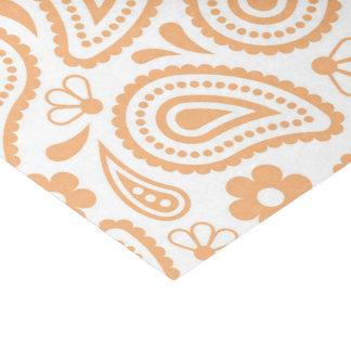 Orange And White Pattern Tissue Paper