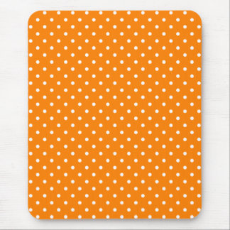 Orange and White Polka Dots Mouse Mat
