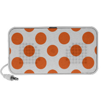 Orange and White Polkadots Speakers