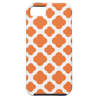 Orange and White Quatrefoil Pattern iPhone 5 Case