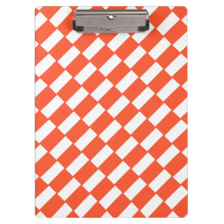 Orange and white rectangles retro pattern. clipboard