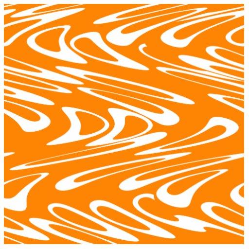 Orange and White Retro Pattern. Photo Cut Out
