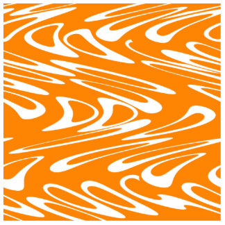 Orange and White Retro Pattern. Photo Cutout