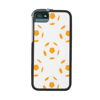 Orange and White Soccer Ball Pattern Cover For iPhone 5/5S
