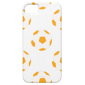 Orange and White Soccer Ball Pattern iPhone 5 Covers