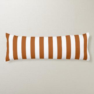 Orange and White Stripes Body Cushion