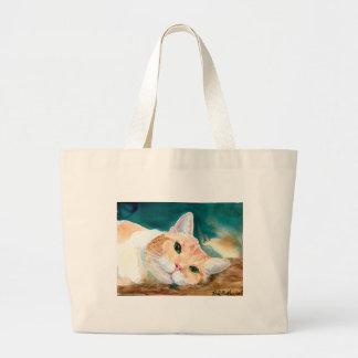 Orange and White Tabby Cat Bag