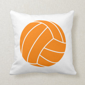 Orange and White Volleyball Cushion