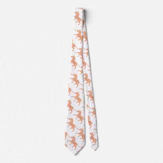 Orange and White Zebra Silhouette Tie