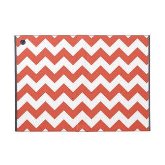 Orange and White Zigzag Cases For iPad Mini