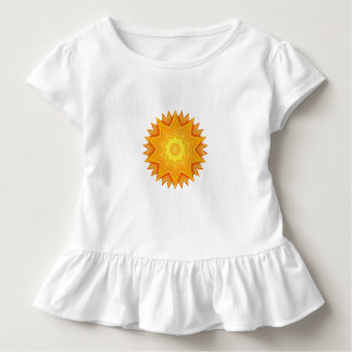 Orange and Yellow Abstract Sun Toddler T-Shirt