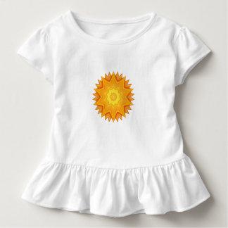 Orange and Yellow Abstract Sun T-shirt