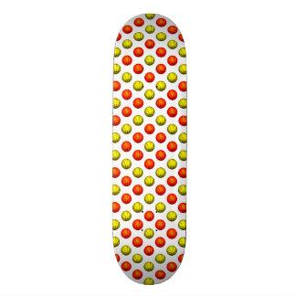 Orange and Yellow Basketball Pattern Skateboard Deck