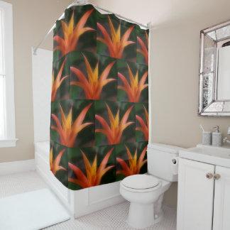 Orange And Yellow Bromelaid Shower Curtain