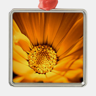 Orange and Yellow Daisy Christmas Ornament