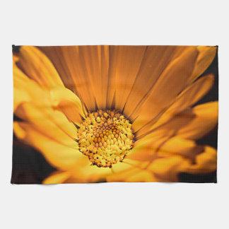 Orange and Yellow Daisy Tea Towel