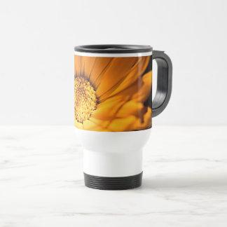 Orange and Yellow Daisy Travel Mug