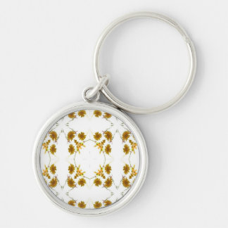 orange and yellow fall colored wildflowers 16 up keychains