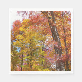 Orange and Yellow Fall Trees Autumn Photography Disposable Napkin