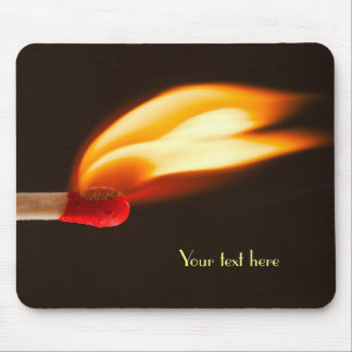 Orange and Yellow Fire Flame Mouse Pad