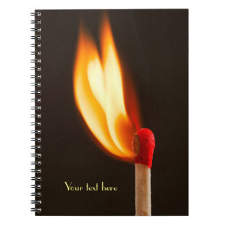 Orange and Yellow Fire Flame Notebooks