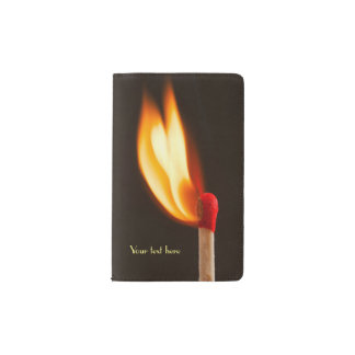 Orange and Yellow Fire Flame Pocket Moleskine Notebook