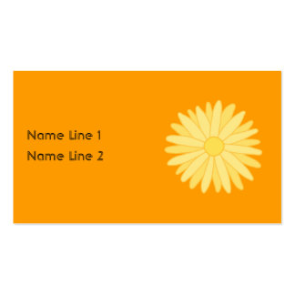 Orange and Yellow Floral Design. Pack Of Standard Business Cards