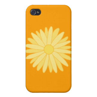 Orange and Yellow Floral Design Cases For iPhone 4