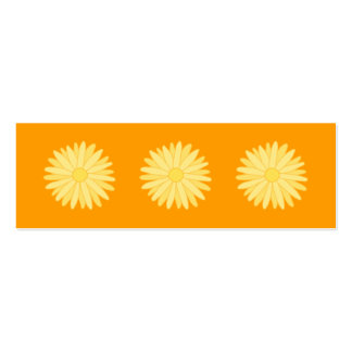 Orange and Yellow Floral Design. Pack Of Skinny Business Cards