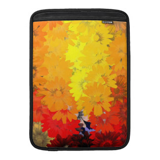 Orange and yellow floral sleeve for MacBook air