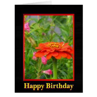 Orange And Yellow Flower Big Greeting Card