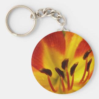 Orange and yellow flower key chains
